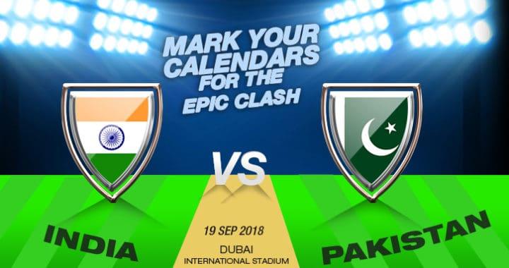 India VS Pakistan Cricket Match Schedule Set for Asia Cup 2018 in Dubai, UAE